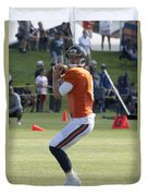 Chicago Bears Qb Jimmy Clausen Training Camp 2014 03 Duvet Cover