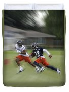 Chicago Bears Rb Michael Ford Moving The Ball Training Camp 2014 Duvet Cover