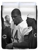 Chicago Bears S Adrian Wilson Training Camp 2014 Bw Duvet Cover