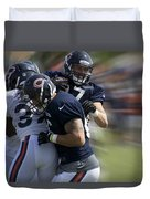 Chicago Bears Te Jeron Mastrud Moving The Ball Training Camp 2014 Duvet Cover