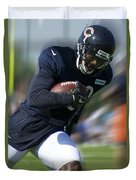 Chicago Bears Training Camp 2014 Moving The Ball 09 Duvet Cover