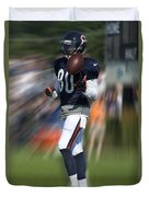 Chicago Bears Wr Armanti Edwards Moving The Ball Training Camp 2014 Duvet Cover