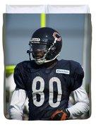 Chicago Bears Wr Armanti Edwards Training Camp 2014 01 Duvet Cover