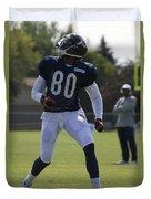 Chicago Bears Wr Armanti Edwards Training Camp 2014 03 Duvet Cover
