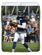Chicago Bears Wr Armanti Edwards Training Camp 2014 07 Duvet Cover