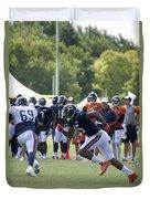 Chicago Bears Wr Brandon Marshall Training Camp 2014 05 Duvet Cover