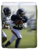 Chicago Bears Wr Chris Williams Moving The Ball Training Camp 2014 Duvet Cover