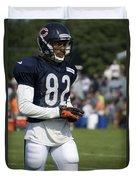 Chicago Bears Wr Chris Williams Training Camp 2014 05 Duvet Cover
