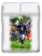 Chicago Bears Wr Josh Morgan Training Camp 2014 Pa 01 Duvet Cover