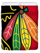 Chicago Blackhawks 2 Duvet Cover