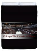 Chicago Blackhawks At Home Panorama Sb Duvet Cover