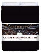 Chicago Blackhawks At Home Panorama White Duvet Cover