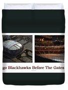 Chicago Blackhawks Before The Gates Open Interior 2 Panel White 01 Duvet Cover