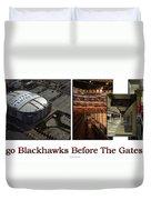 Chicago Blackhawks Before The Gates Open Interior 2 Panel White 02 Duvet Cover
