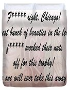 Chicago Blackhawks Crawford's Speech Duvet Cover