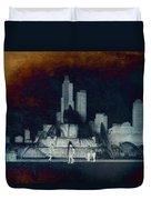 Chicago Buckingham Fountain Northside Textured Duvet Cover