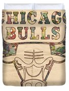 Chicago Bulls Logo Vintage Duvet Cover