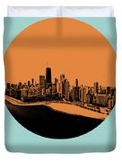 Chicago Circle Poster 2 Duvet Cover