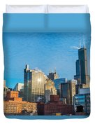 Chicago Cityscape During The Day Duvet Cover