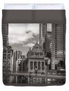 Chicago Crosswalk  Duvet Cover