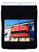Chicago Cubs Marquee Sign Duvet Cover