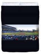 Chicago Cubs Pregame Time Panorama Duvet Cover