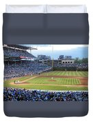 Chicago Cubs Up To Bat Duvet Cover