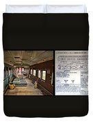 Chicago Eastern Il Rr Business Car Restoration With Blue Print Duvet Cover