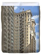 Chicago - Emergency Fire Escape Duvet Cover by Christine Till