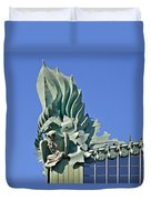 Chicago - Harold Washington Library Duvet Cover by Christine Till