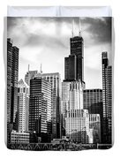 Chicago High Resolution Picture In Black And White Duvet Cover by Paul Velgos