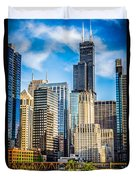 Chicago High Resolution Picture Duvet Cover