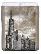Chicago Illinois No Text Duvet Cover