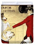 Chicago Kennel Club's Dog Show - Advertising Poster - 1902 Duvet Cover