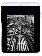 Chicago 'l' Tracks Winter Duvet Cover
