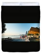 Chicago Lakefront Panorama Duvet Cover