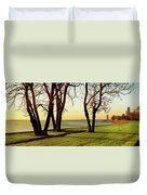 Chicago Lakefront Trail And Lincoln Duvet Cover