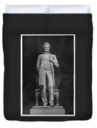 Chicago Lincoln Statue Duvet Cover