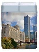 Chicago Merchandise Mart Duvet Cover