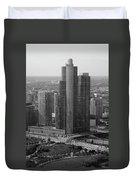 Chicago Modern Skyscraper Black And White Duvet Cover