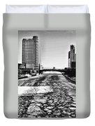Chicago On Ice By Diana Sainz Duvet Cover