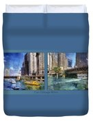 Chicago River 2 Panel Duvet Cover