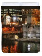 Chicago River At Michigan Avenue Duvet Cover