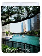 Chicago River Front Duvet Cover