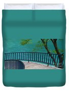 Chicago River Green Duvet Cover