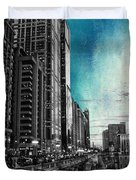Chicago River Hdr Sc Textured Duvet Cover