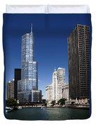 Chicago River Scenic Duvet Cover
