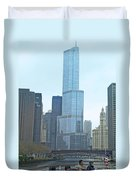 Chicago River Sights Duvet Cover