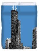 Chicago Sears Tower - Slate Duvet Cover