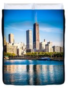 Chicago Skyline Picture With Hancock Building Duvet Cover